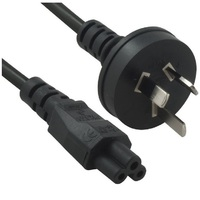 8Ware RC-3084AU-020, Power Cable from 3-Pin AU Male to IEC C5 Female plug in 2m