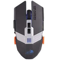 Dragonwar ELE-G22, Lancer RGB 7200dpi, Weight Adjustable, Gaming Mouse, Gray