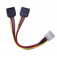 Astrotek AT-MOLEX-TO-SATAX2, Internal Power to SATA Molex Cable - 4 pins to 2x 15 pins 18AWG RoHS