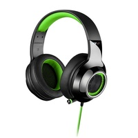 Edifier V4-GREEN, V4 (G4) 7.1 Virtual Surround Sound USB Gaming Headset Green - V7.1 Surround Sound/ Retractable Mic/LED Lights Mesh/USB/Gaming/PC/Lap