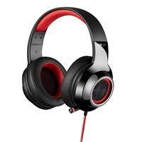 Edifier V4-RED, V4 (G4) 7.1 Virtual Surround Sound USB Gaming Headset Red - V7.1 Surround Sound/ Retractable Mic/LED Lights Mesh/USB/Gaming/PC/Laptop(