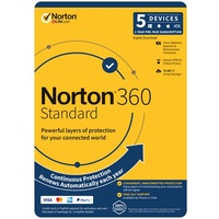 Norton SNN360-5D, Norton 360 Standard, 10GB, 1 User, 5 Devices, PC, MAC, Android, iOS, DVD