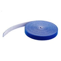 StarTech.com 50ft Hook and Loop Roll - Cut-to-Size Reusable Cable Ties - Bulk Industrial Wire Fastener Tape /Adjustable Fabric Wraps Blue / Resuable S
