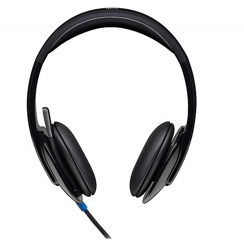 Logitech 981-000482, H540 BLACK- USB Headset, Plug into high-performance audio for PC calls, music, and more. Simply insert the USB and instantaneousl