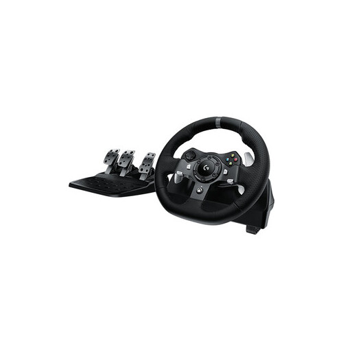 Logitech 941-000126, G920 Driving Force Racing Wheel, Works With Xbox and PC, Dual Motor, Helical Gearing, Easy Acess Game Control, USb 2.0, Rotation: